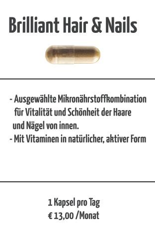 Brilliant Hair & Nails im personalisierten Vitalstofftagespäckchen