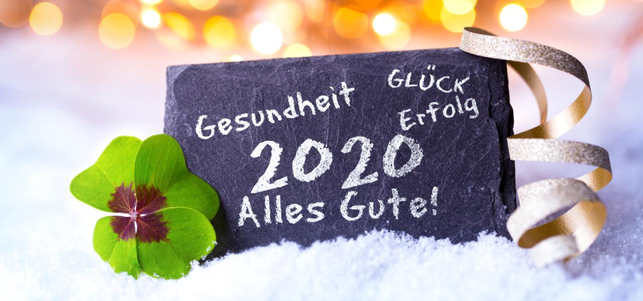 Startseite Banner Happy 2020